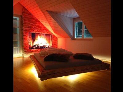 Betten aus echtem, sauberem Altholz