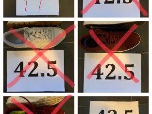 11 Schuhe 42.5 Asics, Fila, Nike, Vans, Reebok, Saucony