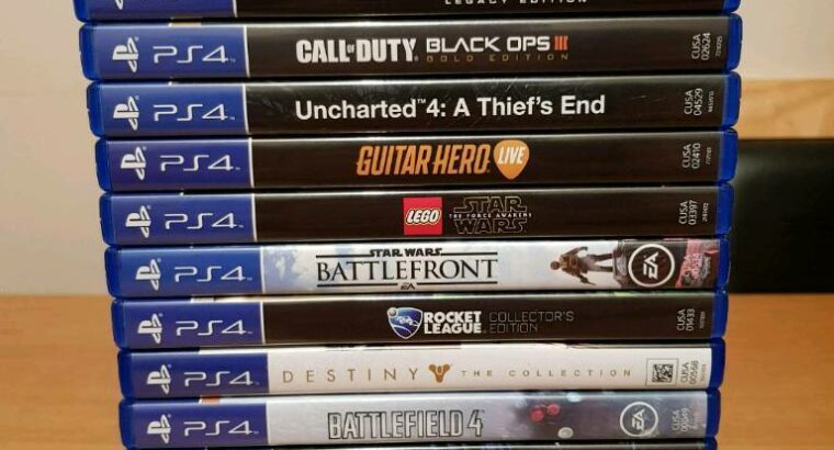 PS4-PRO-4K-1 TB (Jet Black) + 18 Spiele & Guitar Hero Gitarre