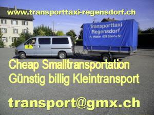 Billig Kleintransporte Warentaxi Transporttaxi  Kt. Zürich