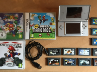 Nintendo DS Lite + 11 GameBoy Advance Spiele + 3 DS Game