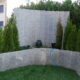 Palisaden aus Tessiner Naturstein für Sichtschutzwand 210cm /st
