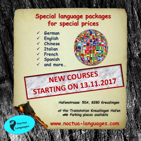 Sprachkurse – Deutsch, Englisch, Chinesisch, Französisch und mehr…