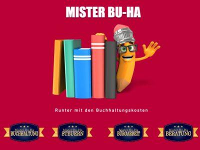 MISTER BU-HA: RUNTER MIT DEN BUCHHALTUNGSKOSTEN, JETZT AB 100.-/MT. ALLES INKLUSIVE