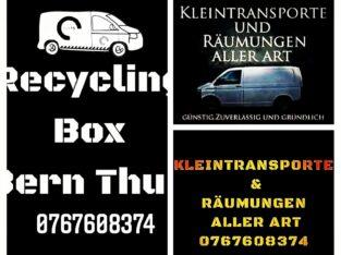 Recycling Box Kleintransporte Räumungen Bern Thun Biel