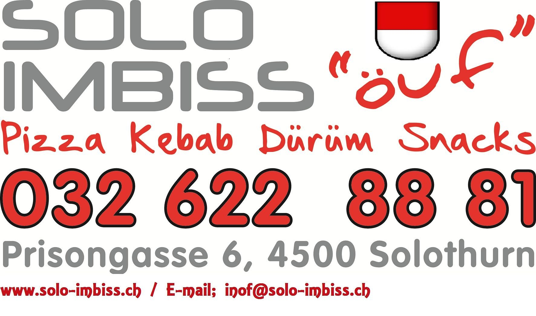 SOLO IMBISS PIZZA KURIER SOLOTHURN 032 622 88 81