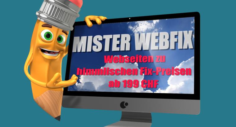 WEBSEITEN ZU HIMMLISCHEN FIX-PREISEN AB 199 CHF