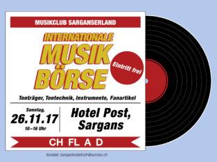 INT. MUSIKBÖRSE VOM 26.11.2017 IM HOTEL POST, SARGANS
