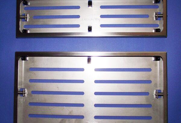 Edelstahl – Nummernschildhalter für Auto + LKW