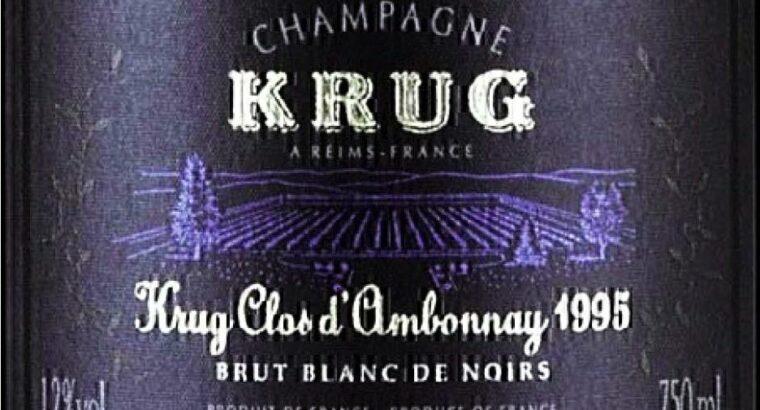 Champagner Kurg Clos d Ambonnay 1995 Rarität