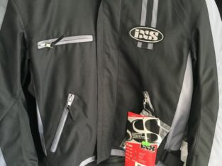 Motorradjacke von IXS in Grösse XS schwarz/grau oder Gr. M in dunkelblau/ beige Fabrikneu