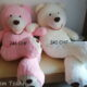 Mega XXL Riesen Teddybär Plüschbär Kuschelbär Plüsch Kuscheltier Pink Ted Rosa / Weiss Eisbär Geschenk Mädchen Frau Freundin Weihnachten